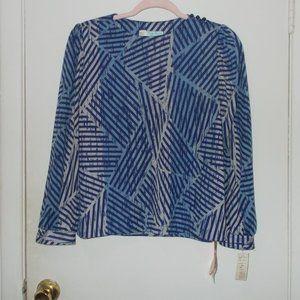 Vintage Lady Carol Printed Top Size 12